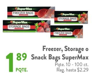 Freezer, Storage o Snack Bags SuperMax